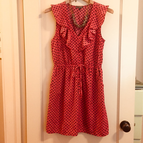 a8361c1037d DePop summer dress red orange and polkadots